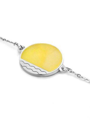 Chain  Amber Bracelet In Sterling Silver The Monaco, image , picture 3