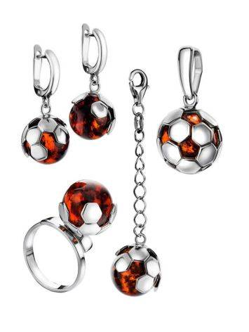 Silver Keychain With Cherry Amber The League, image , picture 3