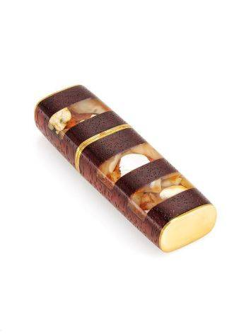 32 Gb Handcrafted Flash Drive With Padauk Wood And Honey Amber The Indonesia, image , picture 3