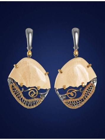 Voluptuous Mammoth Tusk Earrings In Gold-Plated Silver The Era, image , picture 2
