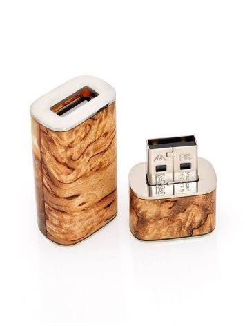 16 Gb Flash Drive With Karelian Birch And Baltic Amber The Indonesia, image , picture 5