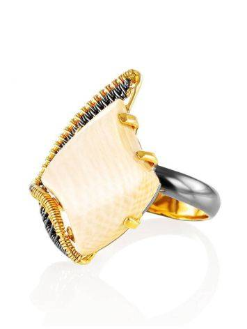 Adjustable Mammoth Tusk Ring In Gold-Plated Silver The Era, Ring Size: Adjustable, image , picture 3