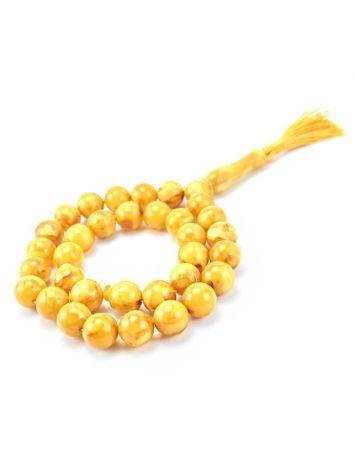 Vintage Style Honey Amber Islamic Prayer Beads With Tassel, image , picture 2
