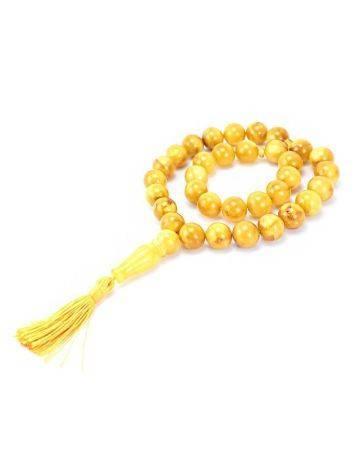 Honey Amber Muslim Prayer Beads With Tassel, image , picture 2