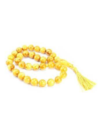 Honey Amber Muslim Prayer Beads With Tassel, image , picture 4