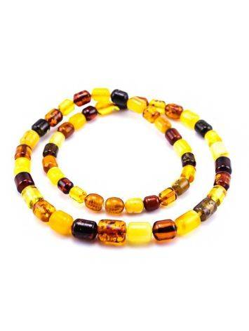 Multicolor Amber Barrel Beaded Necklace, image , picture 4