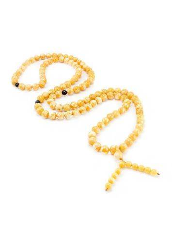 Vintage Style Honey Amber Buddhist Prayer Beads With Dangle, image , picture 2