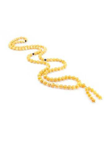 108 Honey Amber Mala Beads With Dangle, image , picture 2