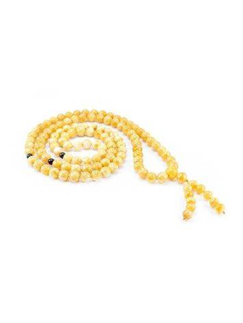 108 Honey Amber Mala Beads With Dangle, image , picture 3
