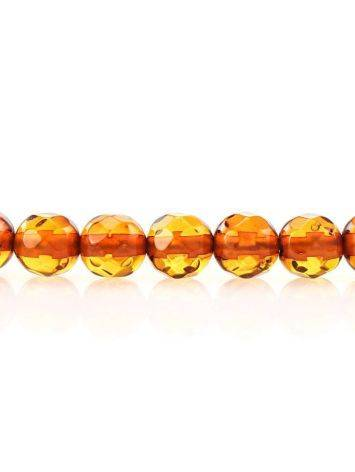 Faceted Cognac Amber Beaded Necklace The Prague, image , picture 4