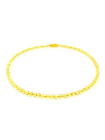 Faceted Lemon Amber Beaded Necklace The Prague, image , picture 3