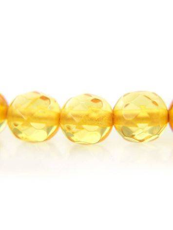 Faceted Lemon Amber Beaded Necklace The Prague, image , picture 7