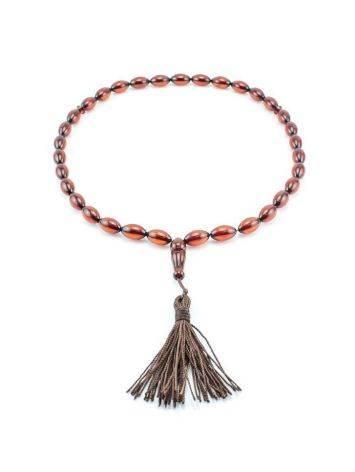 33 Cherry Amber Islamic Prayer Beads, image , picture 3