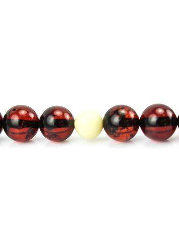 108 Dark Cherry Amber Mala Beads With Dangle, image , picture 6