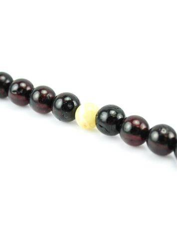 Cherry Amber Mala Prayer Beads With Dangle, image , picture 4