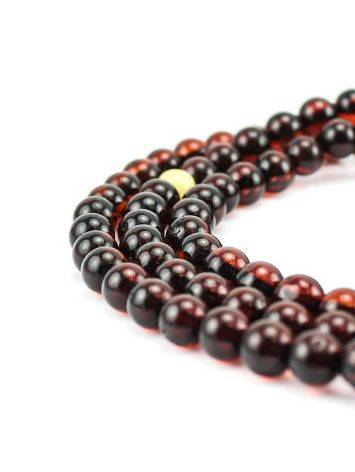 108 Cherry Amber Buddhist Prayer Beads With Dangle, image , picture 2