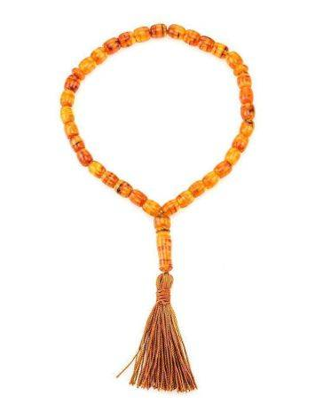 33 Multicolor Amber Islamic Prayer Beads With Tassel, image , picture 3