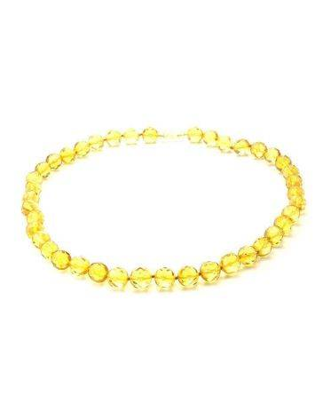 Faceted Amber Ball Beaded Necklace The Prague, image , picture 4