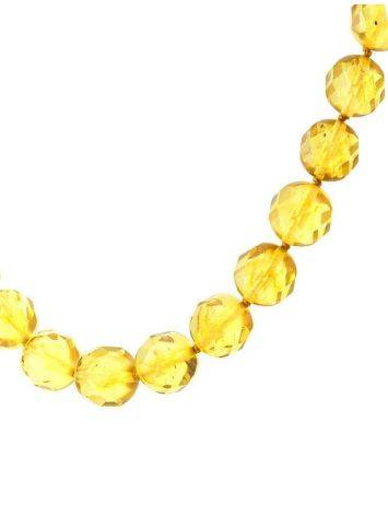 Faceted Amber Ball Beaded Necklace The Prague, image , picture 2