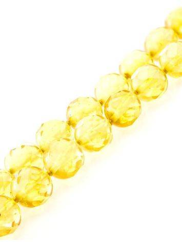 Faceted Amber Ball Beaded Necklace The Prague, image , picture 3