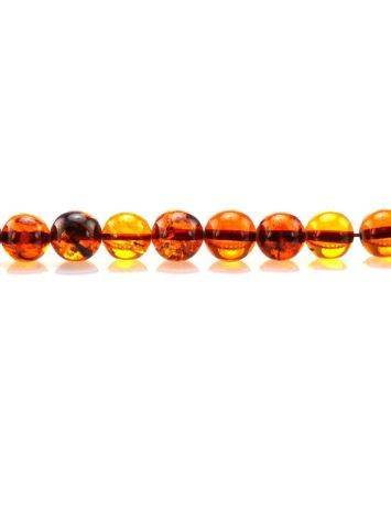Cognac Amber Ball Beaded Necklace, image , picture 3