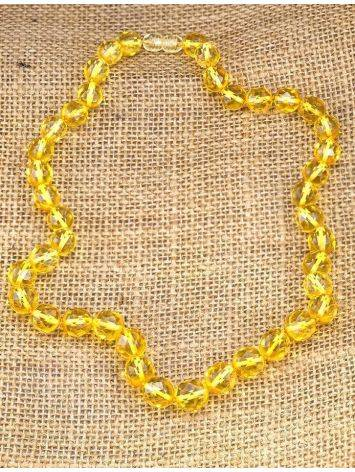 Faceted Amber Ball Beaded Necklace The Prague, image , picture 6