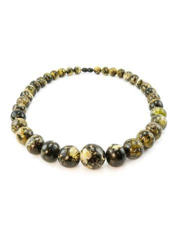 Dark Amber Ball Beaded Necklace The Meteor, image , picture 7