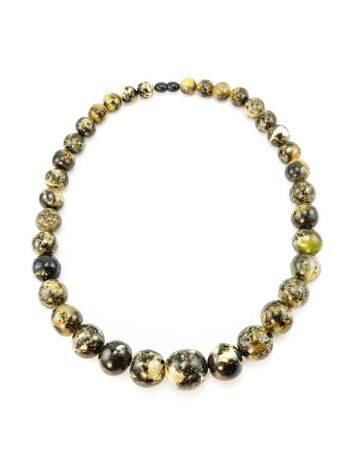 Dark Amber Ball Beaded Necklace The Meteor, image , picture 6