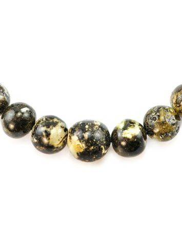 Dark Amber Ball Beaded Necklace The Meteor, image , picture 5