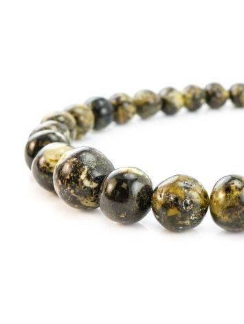 Dark Amber Ball Beaded Necklace The Meteor, image , picture 4