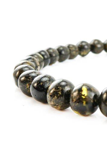 Black Amber Ball Beaded Necklace The Meteor, image , picture 2
