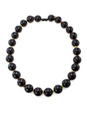 Cherry Amber Ball Beaded Necklace The Ariadna, image , picture 5