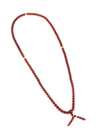 108 Cognac Amber Mala Beads With Dangle, image , picture 5