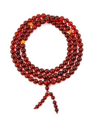 108 Cognac Amber Mala Beads With Dangle, image , picture 6
