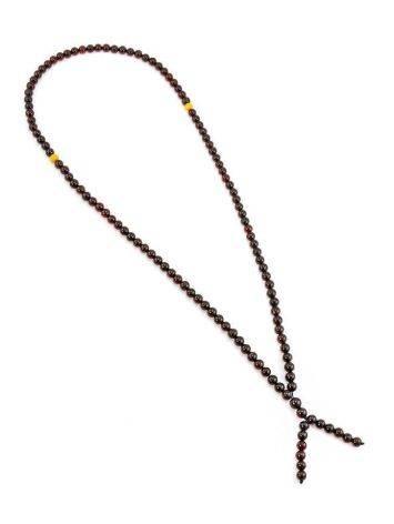 Cherry Amber Buddhist Prayer Beads, image , picture 10