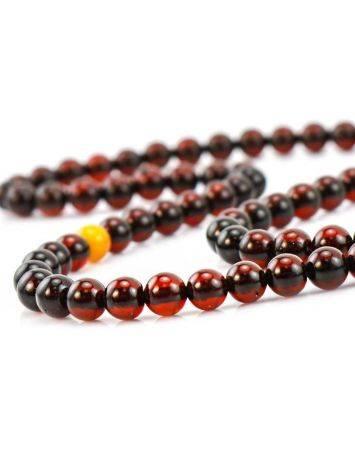 Cherry Amber Buddhist Prayer Beads, image , picture 3
