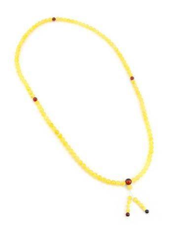 Butterscotch Amber Buddhist Prayer Beads, image , picture 7