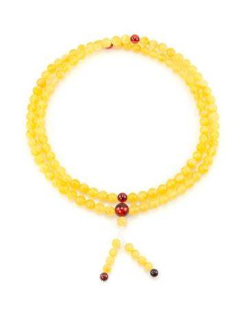 Butterscotch Amber Buddhist Prayer Beads, image , picture 6