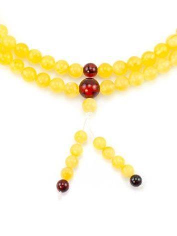 Butterscotch Amber Buddhist Prayer Beads, image , picture 3
