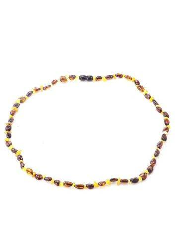 Multicolor Amber Beaded Necklace, image , picture 4