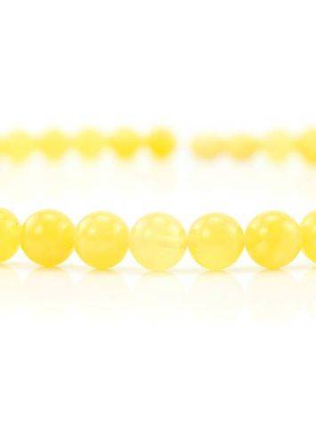 Delicate Honey Amber Ball Beaded Necklace, image , picture 2