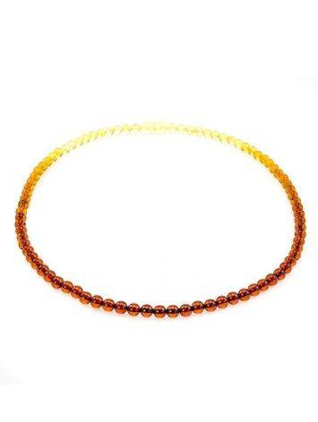 Two Toned Amber Beaded Necklace The Prague, image , picture 7
