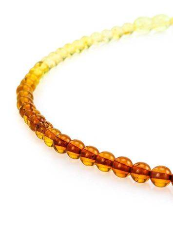 Two Toned Amber Beaded Necklace The Prague, image , picture 3