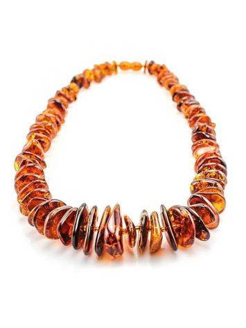 Cognac Amber Beaded Necklace, image , picture 3