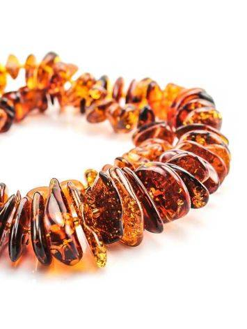 Cognac Amber Beaded Necklace, image , picture 5
