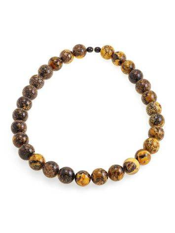 Boho Style Amber Ball Beaded Necklace The Meteor, image , picture 3