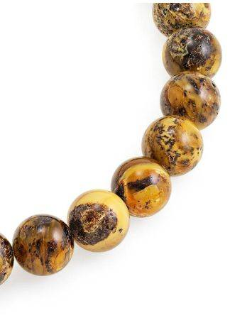Boho Style Amber Ball Beaded Necklace The Meteor, image , picture 4