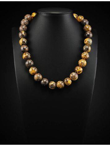 Boho Style Amber Ball Beaded Necklace The Meteor, image , picture 2