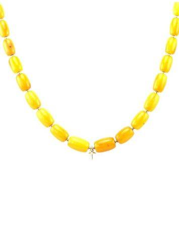 Honey Amber Beaded Necklace With Bail, image , picture 3