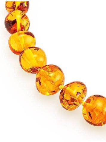 Lemon Amber Ball Beaded Necklace, image , picture 4